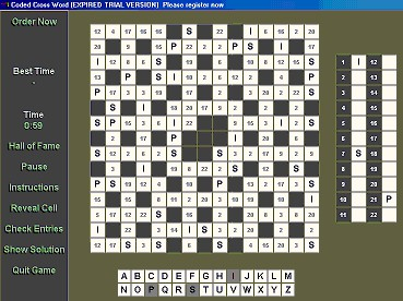 Coded X-Word 1.0 screenshot