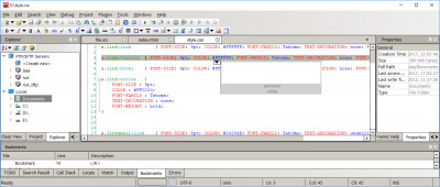 CodeLobster IDE 1.6.2 screenshot