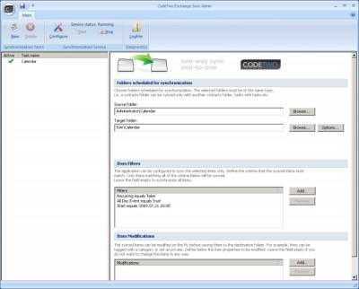 CodeTwo Exchange Sync 2.2.4 screenshot