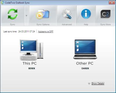 CodeTwo Outlook Sync 1.0.9 screenshot