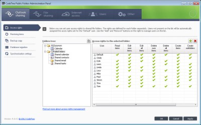 CodeTwo Public Folders 5.0 screenshot