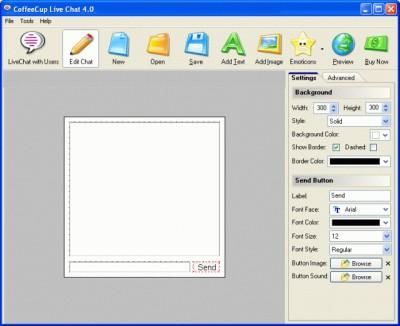 CoffeeCup Live Chat 6.2 screenshot