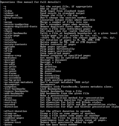 Coherent PDF Command Line Tools 1.8 screenshot