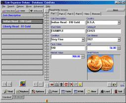 Coin Organizer Deluxe 4.12 screenshot