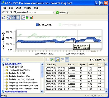 Colasoft Ping Tool 2.3 screenshot