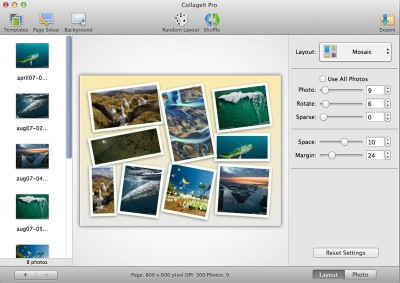 CollageIt for Mac 3.6.0.1 screenshot