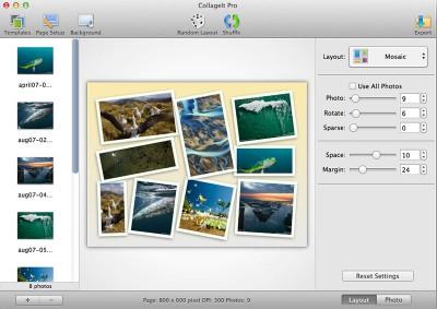 CollageIt for Mac 3.6.0.1 screenshot