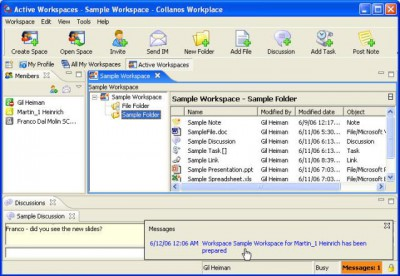 Collanos Workplace Windows 1.0.01.00 screenshot