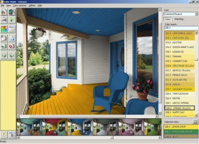 Color Style Studio (paint color schemes) 2.41 screenshot