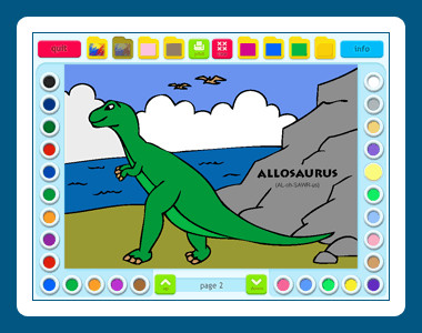 Coloring Book 2: Dinosaurs 5.00.68 screenshot