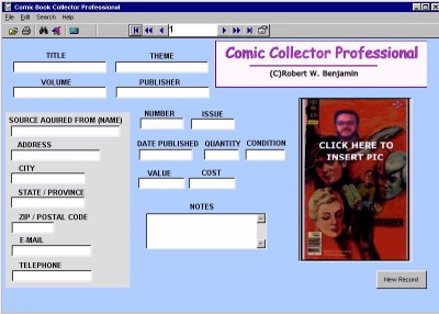 Comic Collector Professional 12.0 screenshot