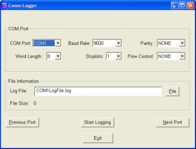 Comm-Logger 1.0 screenshot