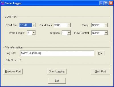 Comm-Logger 1.0 screenshot