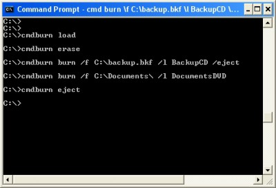 CommandBurner 3.5.0 screenshot