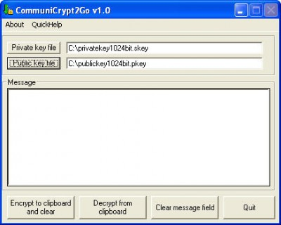 CommuniCrypt2Go 1.00 screenshot