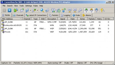 CommView for WiFi 6.5 screenshot