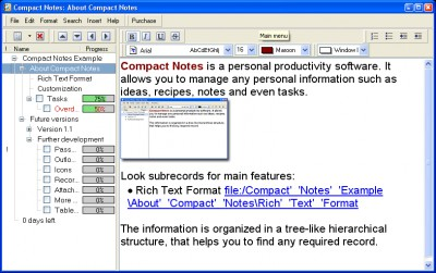 Compact Notes 1.1 screenshot
