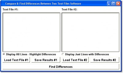 Compare & Find Differences Between Two Text Files 7.0 screenshot