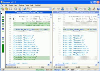 Compare It! 3.0 screenshot