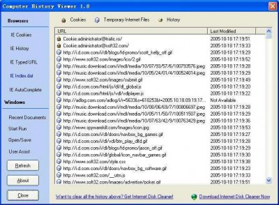 Computer History Viewer 1.1 screenshot