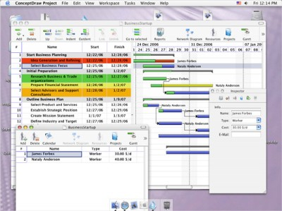 ConceptDraw Project Mac 4.1 screenshot
