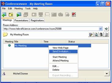 Conferenceware 2.0 screenshot