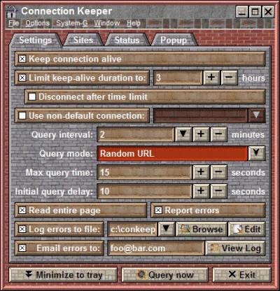 Connecction Keeper 7.2 screenshot