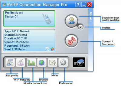Connection Manager Lite 1.03 screenshot