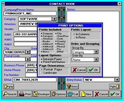 Contact Book 5.1 screenshot