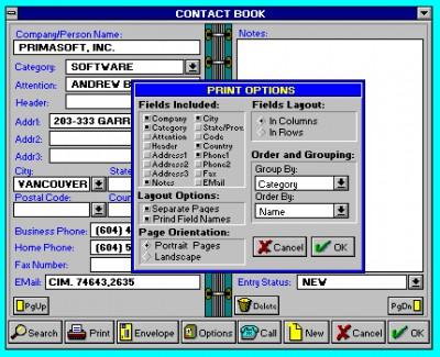 Contact Book 5.1 screenshot
