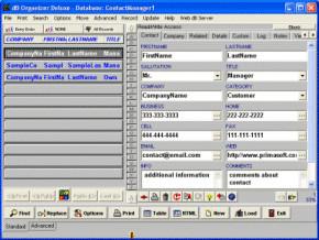 Contact Organizer Deluxe 4.12 screenshot
