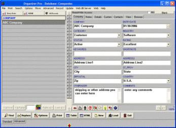 Contact Organizer Pro 3.2b screenshot