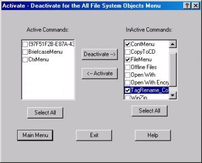 Context Menu Manager 2.3 screenshot