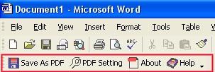 Convert DOC to PDF For Word 4.00 screenshot
