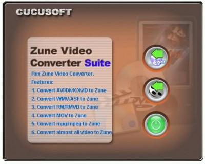 Convert DVD to Zune + Video to ZUNE 5.97.6.3.0 screenshot