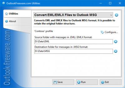Convert EML/EMLX Files to Outlook MSG 4.4 screenshot