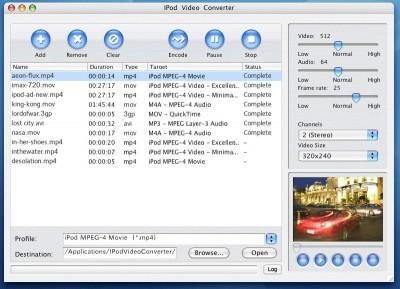 Convert iPod Video 4 Mac 2011.1105 screenshot