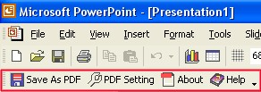 Convert PPT to PDF For PowerPoint 3.00 screenshot