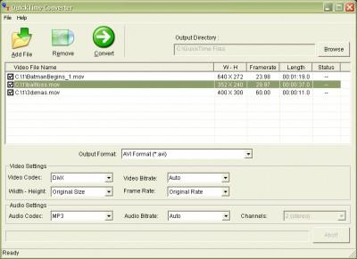 Convert QuickTime MOV QT MP4 2014.416 screenshot