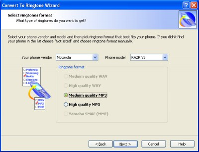 Convert to Ringtone Wizard 1.19 screenshot