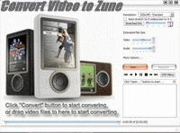 Convert Video to Zune 2.0 screenshot