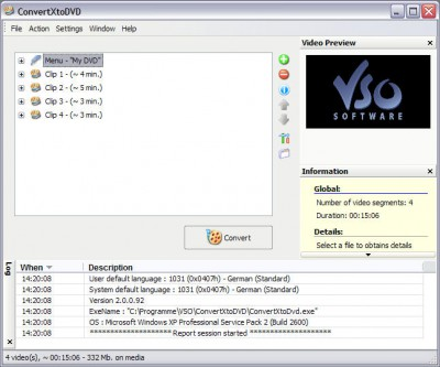 ConvertXtoDVD Pro 2.95 2.95 screenshot