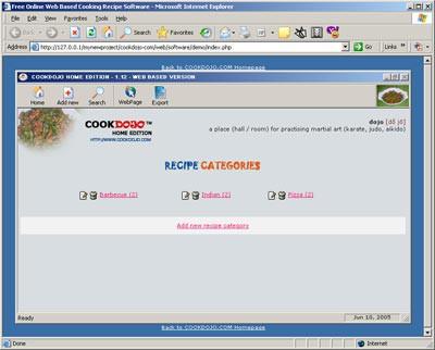 CookDojo Home Edition 1.12 screenshot