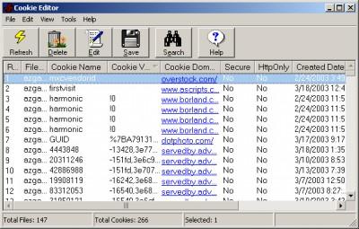 Cookie Editor 1.9.1 screenshot