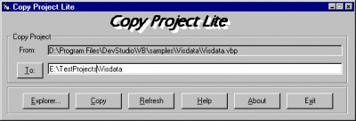 CopyProjectLite 1.0 screenshot