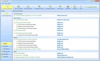 Coranti MultiEngine AntiVirusAntiSpyware 1.5.6 screenshot