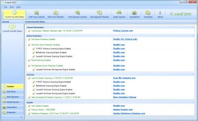 Coranti MultiEngine AntiVirusAntiSpyware 1.5.6 screenshot