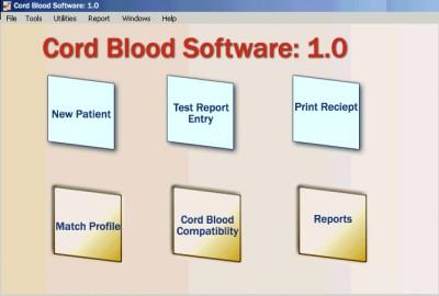 Cord Blood Software 1.0 screenshot