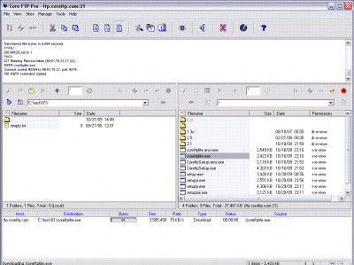 Core FTP Pro 2.2.1960 screenshot