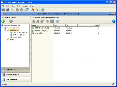 Corporate Mail Manager - Business 10 - Win 2.0.2 screenshot